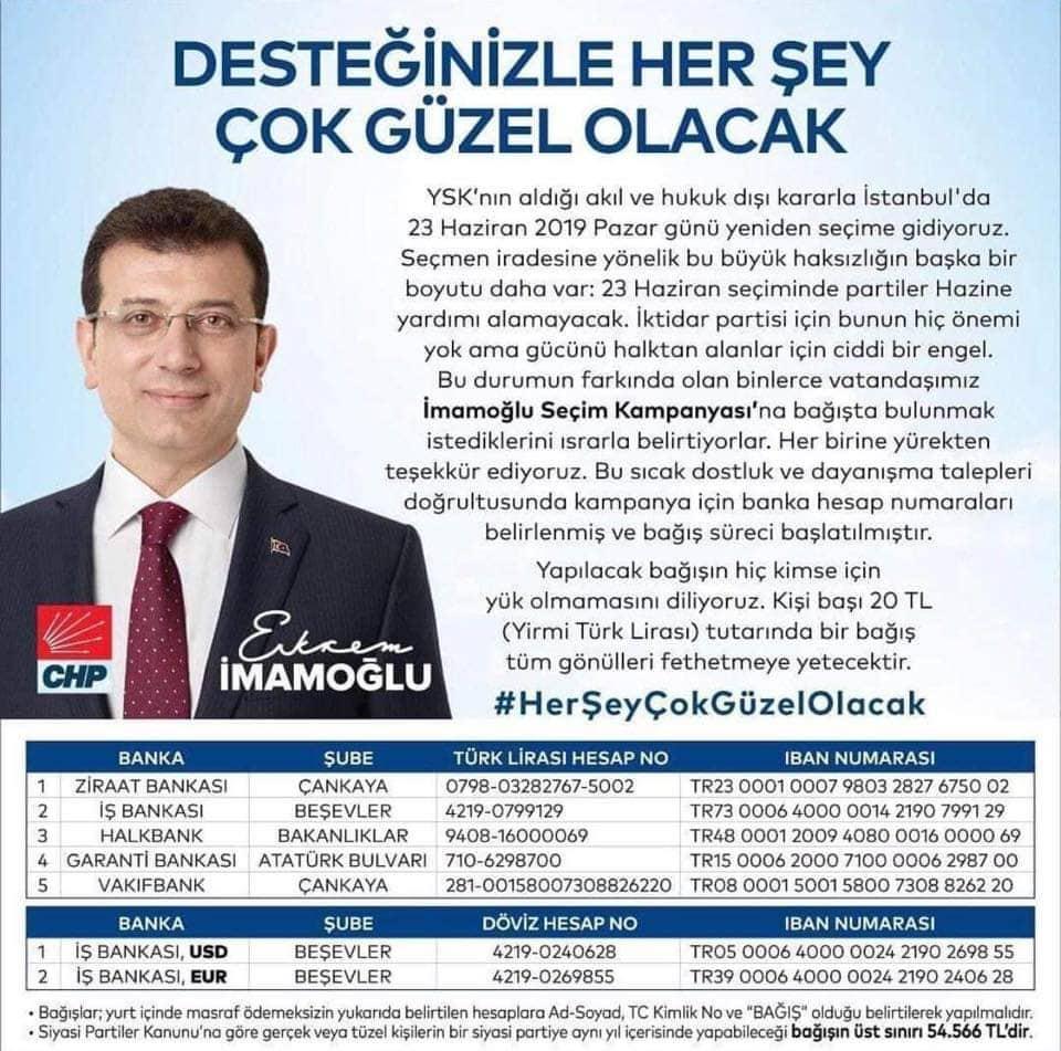 CHP ALANYA TEŞKİLATINDAN İSTANBUL İÇİN KAMPANYA...