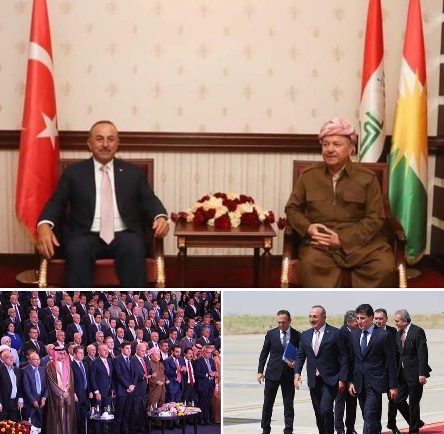 Mevlüt Çavuşoğlu, Barzani'nin yemin törenine katıldı...