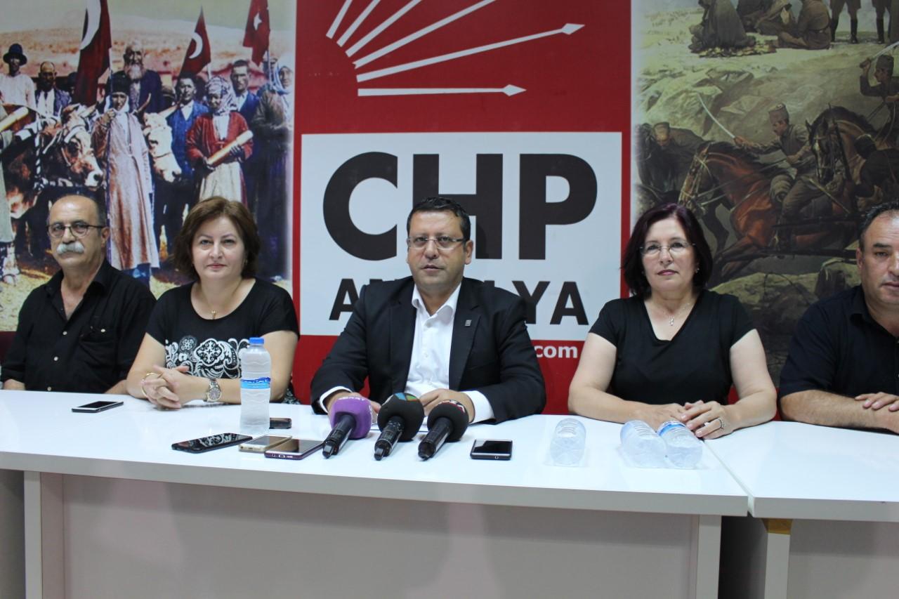 CHP ANTALYA İL BAŞKANI AHMET KUMBUL GÜNDEMİ DEĞERLENDİRDİ...