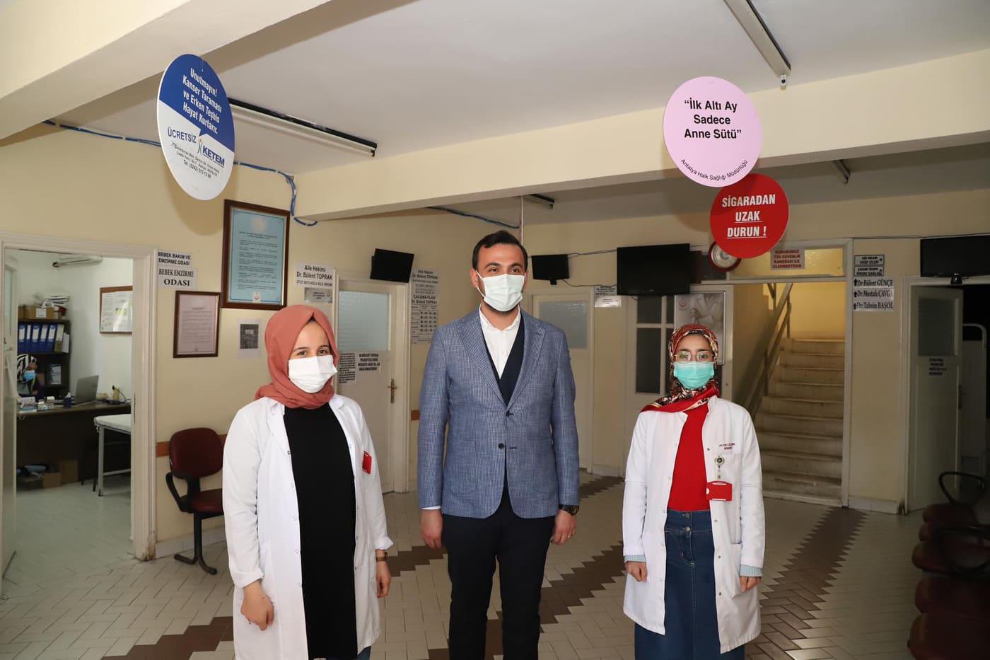 Başkan Toklu'dan sağlık çalışanlarına anlamlı ziyaret...