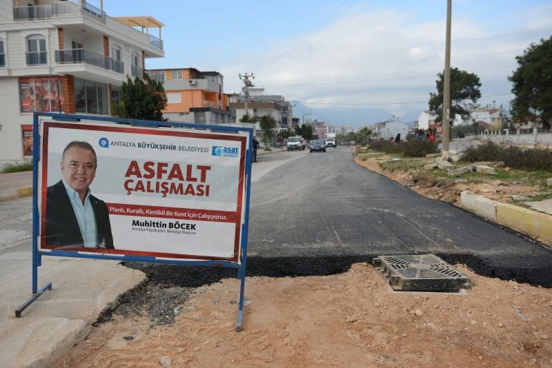 ASAT asfalt çalışmalarına hız verdi...