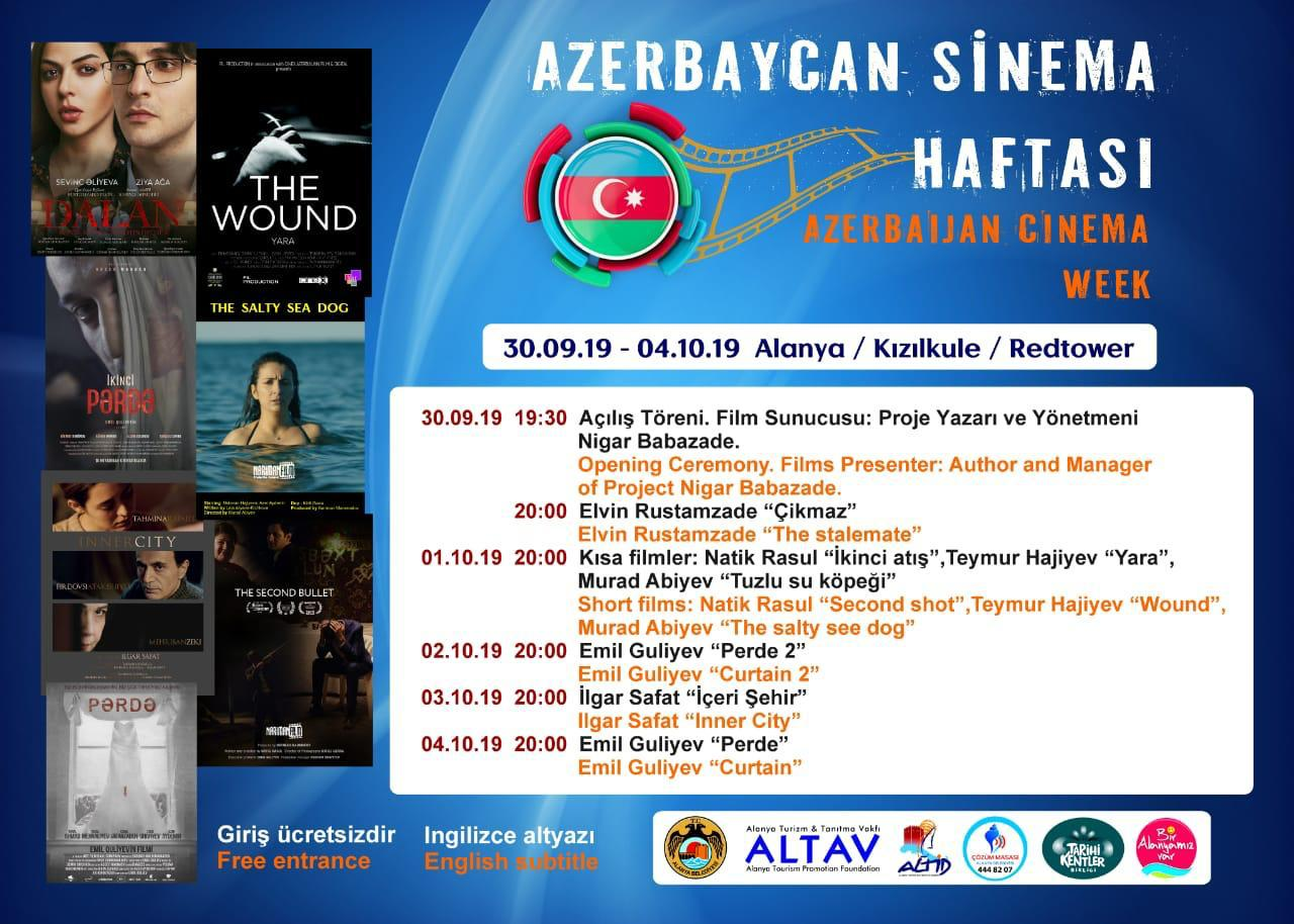 Azerbaycan sineması Alanya'da...