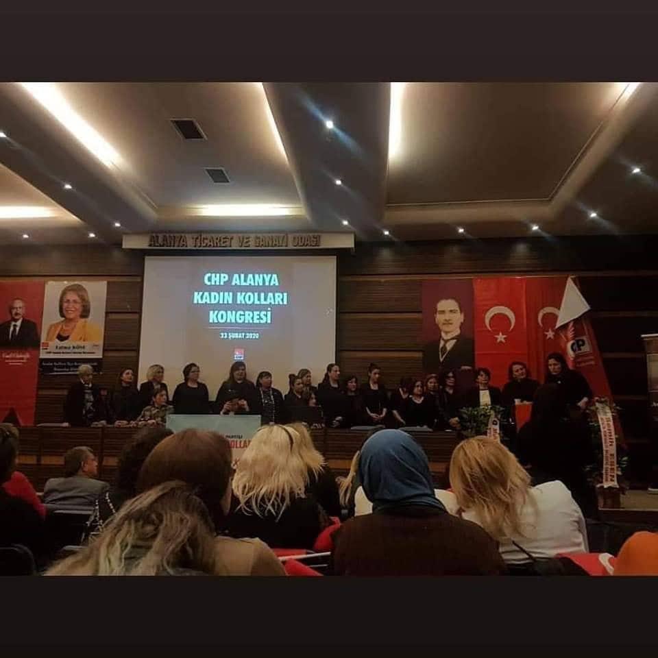 Alanya CHP'de Kadın Kolları Başkanlığı seçimi kongre ile tamamlandı...