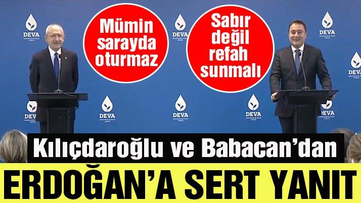 KEMAL KILIÇDAROĞLU'NDAN ALİ BABACAN'A ZİYARET...