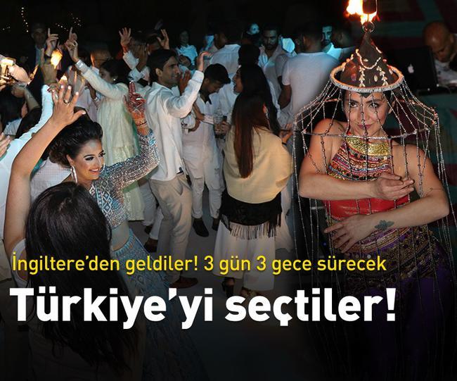 ANTALYA'DA HİNT DÜĞÜNÜ 3 GÜN SÜRECEK...