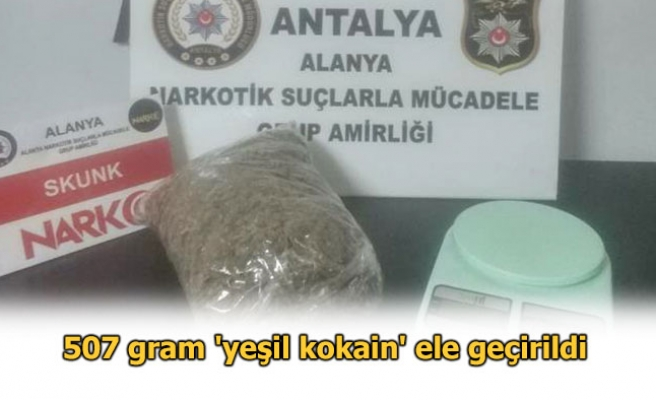 YEŞİL KOKAİN, 4 GÖZALTI...