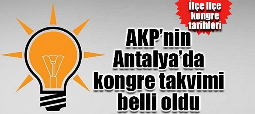 ALANYA AK PARTİ DE KONGRE TARİHİ BELLİ OLDU...