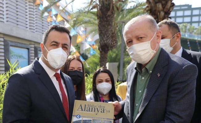 Alanya'nın kitabı Cumhurbaşkanı Erdoğan'a verildi...