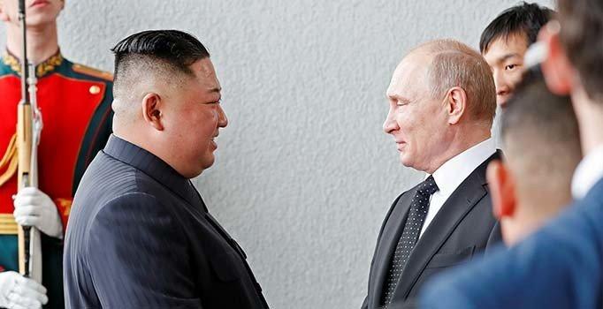 Rusya'da tarihi zirve: Putin ile Kuzey Kore lideri Kim bir araya geldi...