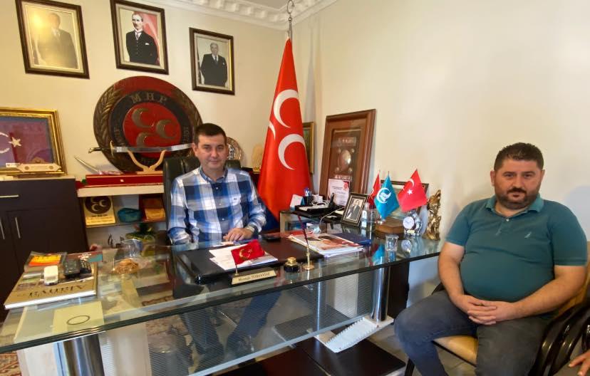 ALTSO ADAYI BİLAL GÖMEÇ'DEN MHP'YE ZİYARET...