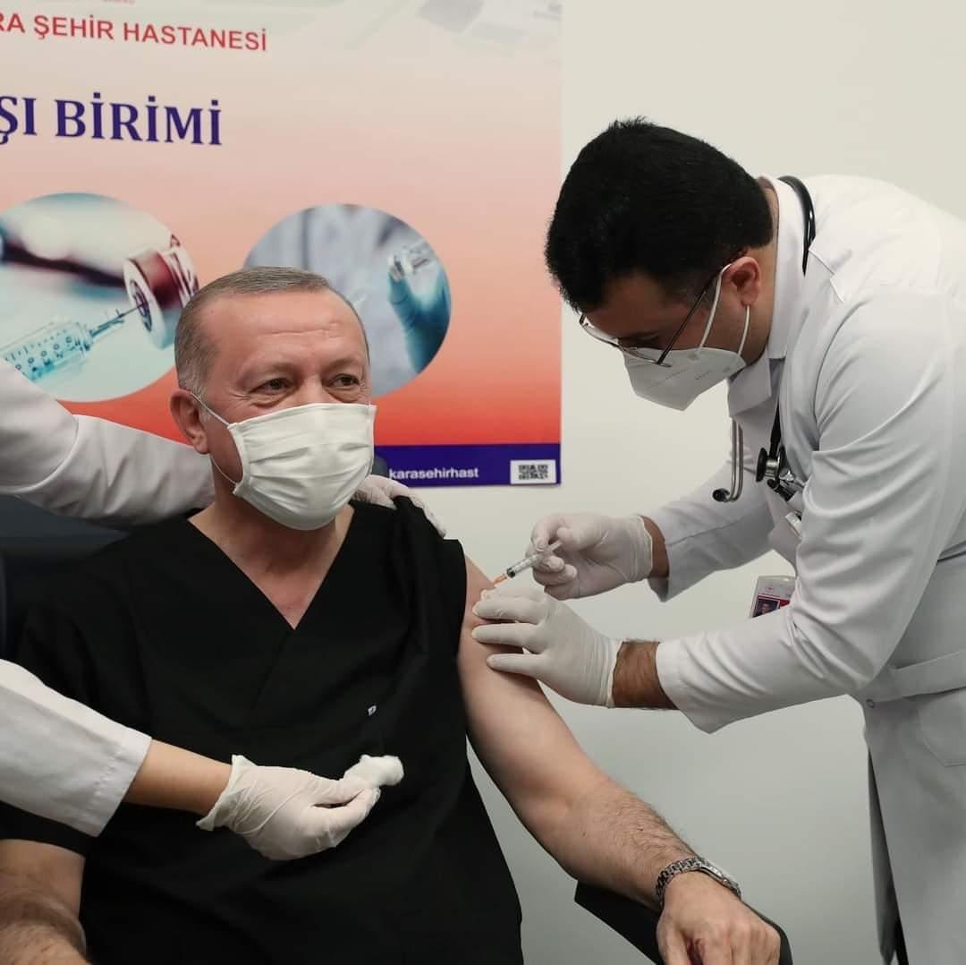 Cumhurbaşkanı Erdoğan aşı oldu...