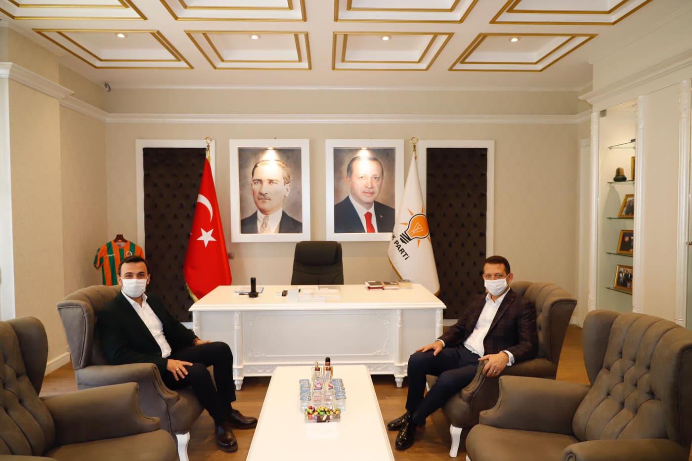 Alanya AK Parti Kaymakam Ürkmezer'i ağırladı...