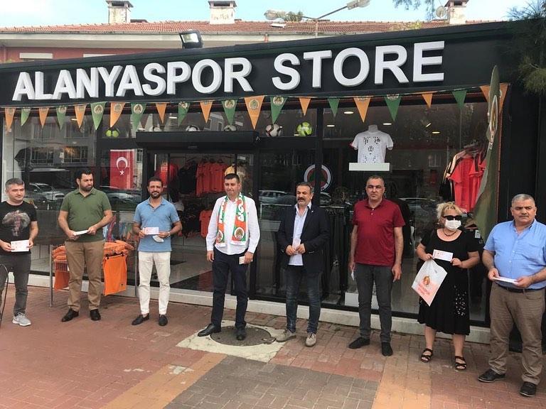 MHP ALANYA TEŞKİLATINDAN ALANYASPOR'A DESTEK...