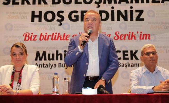 """Başkan Muhittin Böcek:"""" Turizm Birliği tek çatı altında olacak""""..."""