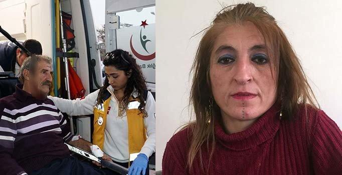Kafasında bıçakla hastaneye kaldırılan adamın eşinden şok suçlama
