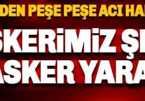İDLİB'DE 5 MEHMETÇİK VE 1 SİVİL ŞEHİT;7 ASKER YARALI...