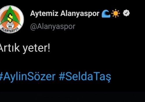 Aytemiz Alanyaspor'dan kadın cinayetlerine tepki...