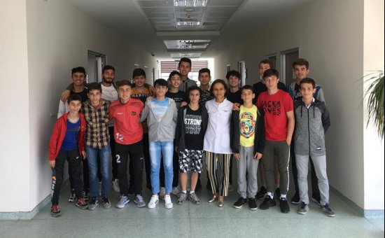 Alanyaspor Alt yapı Genç sporcuları diş taramasından geçti...