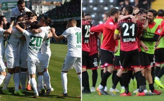 Gençlerbirliği ve Denizlispor Süper Lig'e yükseldi...